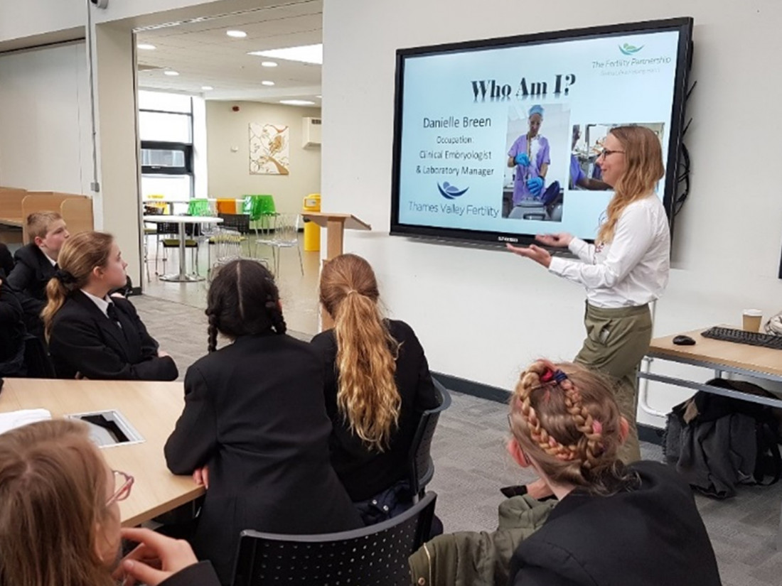 Thames Valley Fertility Clinic visits Great Marlow School