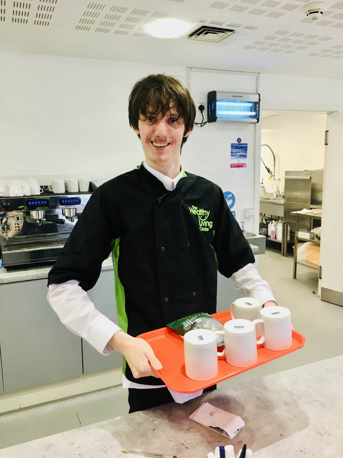 Lee's work experience at the Healthy Living Centre Community Café